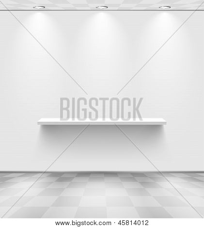 White Room With Shelf