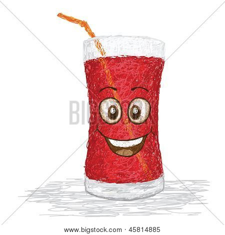 Happy Strawberry Juice