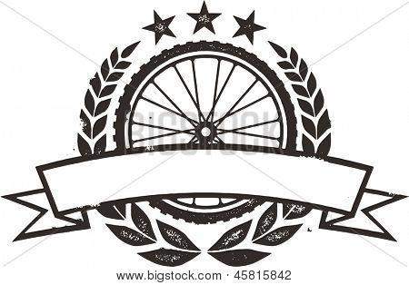 Mountain Bike Bicycle Wheel Race Wreath