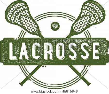 Lacrosse Vintage Sport Clip Art