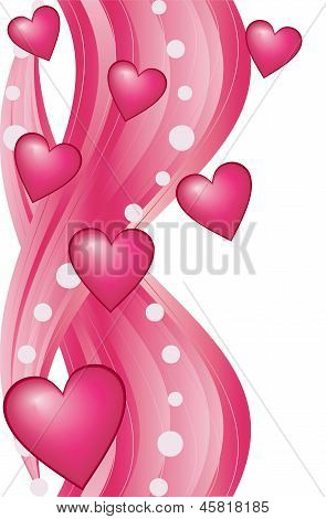 Heart Valentine's Day Holiday,  Raster Illustration.
