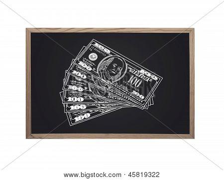 Blackboard With Dollars