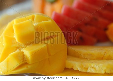 Fresh Mango And Tropical Fruit