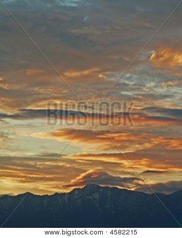 San Jacinto Orange Sunset