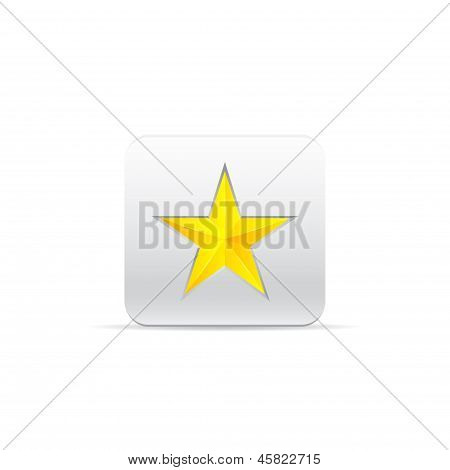 Yellow Star For Award