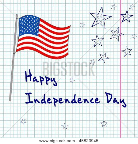 4th of  july greating card