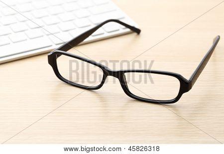 Keyboard and glasses
