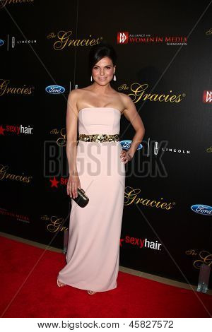 LOS ANGELES - MAY 21:  Lana Parrilla arrives at the 38th Annual Gracie Awards Gala at the Beverly Hilton Hotel on May 21, 2013 in Beverly Hills, CA