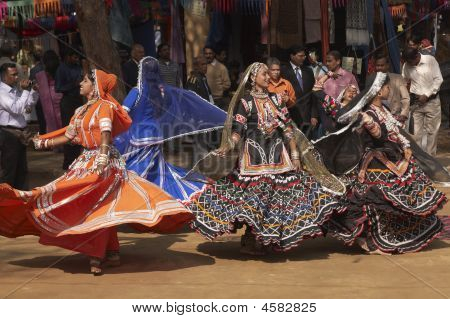 Tribal Dancers In Action