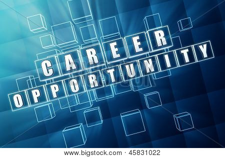 Career Opportunity In Blue Glass Cubes