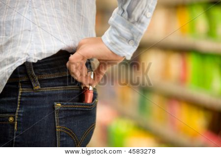Shoplifting In A Supermarket
