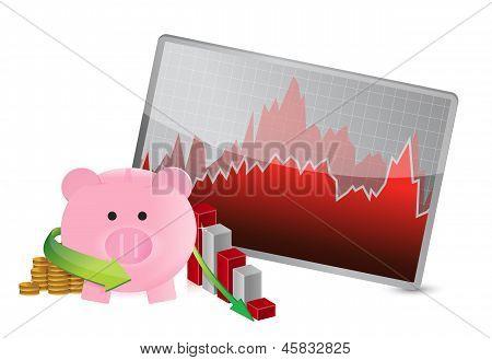 Negative Business Savings Graph