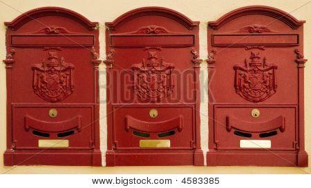 Mailboxes In Cortona, Italy