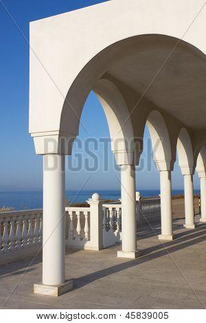 Balkon über der Ägäis