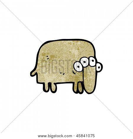 cartoon weird alien animal