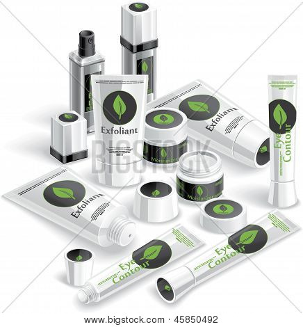 White and Black Cosmetics Array