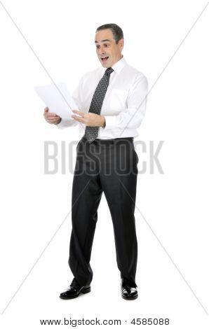 Scared Businessman