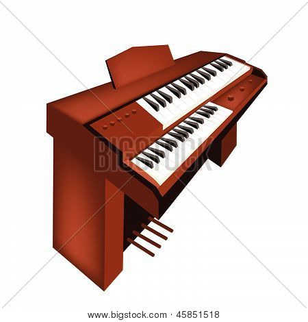 Un Retro órgano aislado