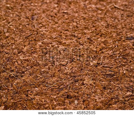 One Block of Coconut Coir Husk Fiber Chips surface texture background