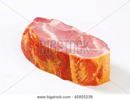 block of smoked ham