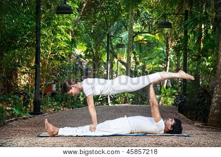 Acroyoga In The Garden