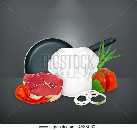 Food, vector illustration