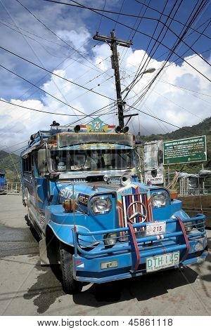 Colorful Jeepney Philippines Local Transport