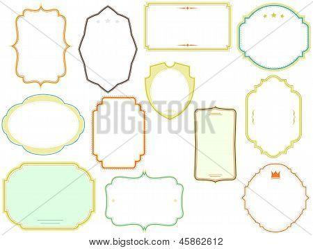 digital frames labels