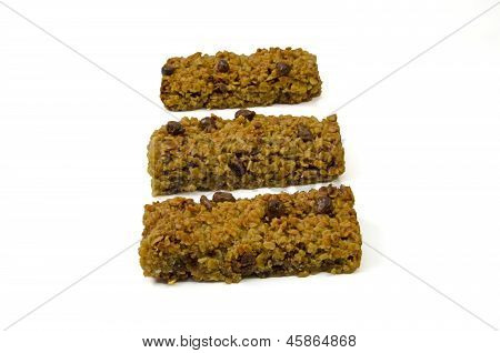 Three flapjack oat cakes