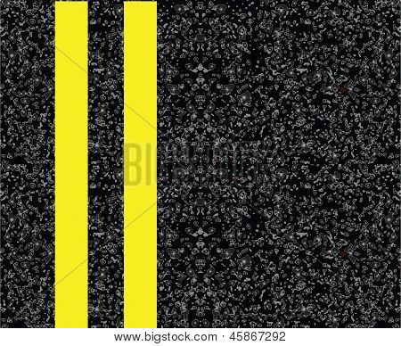 Linha de centro amarela dupla
