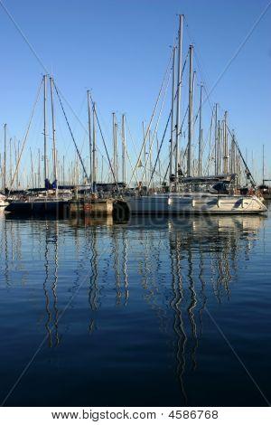 Meeting Of Sailboats