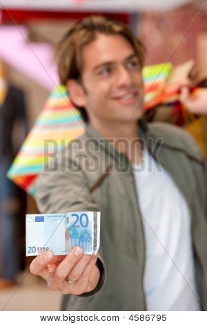 Shopping Man With A Bill