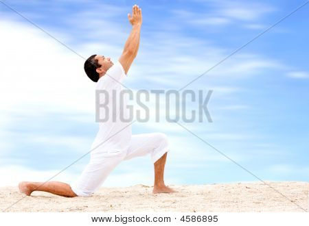Beach Yoga - Man