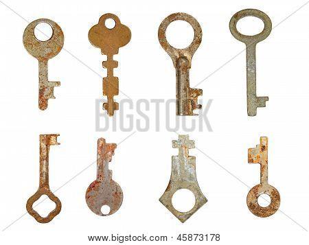 Set Old Rusty Keys.isolated.