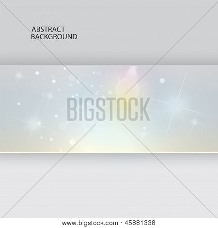 Abstract Background, Vector Template, Glow And Stars