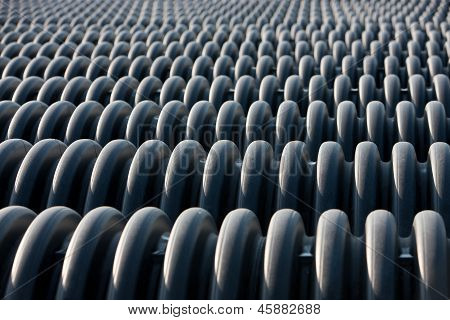 Row Of Large Plastic Culverts