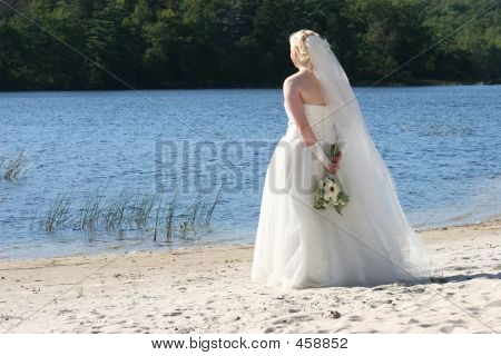 Bride Alone At The Lake