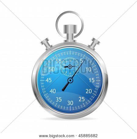 Blue stopwatch vector illustraion