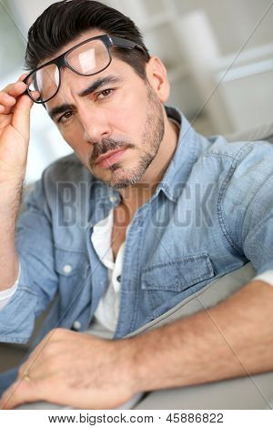 Man paying attention to conversation