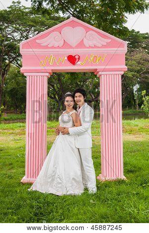 Asian Thai Bridal In Wedding Suit