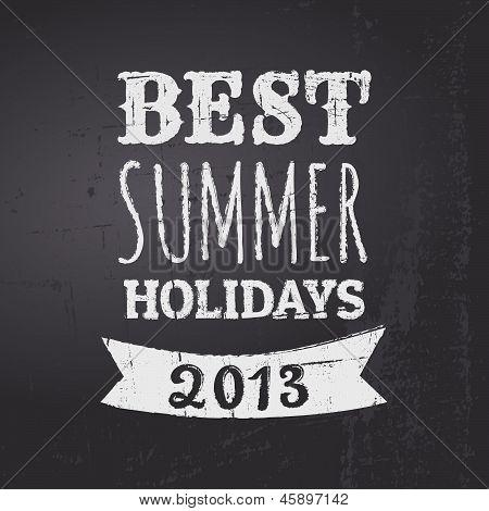 Summer Chalkboard Poster