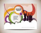 stock photo of jumping  - template for advertising brochure with people - JPG