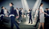 image of blindfolded man  - young blindfolded man - JPG