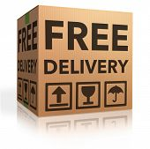 foto of ship  - free delivery package from shipping online internet webshop cardboard box as webshop shopping icon parcel with text order shipment - JPG