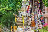 image of brahma  - Statue Of Brahma in Wat Lok Mo Lee  - JPG