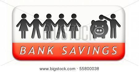 saving money in piggy bank deposit account with savings plan save cash