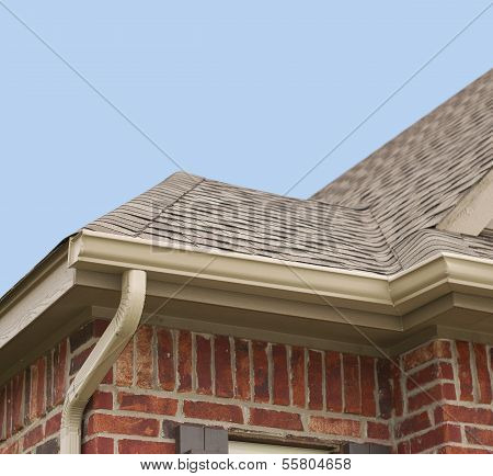House Roof And Gutters