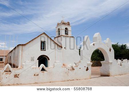 CHILE - FEBRUARY 9: The San Pedro de Atacama Church in San Pedro near the Atacama Desert in northern Chile in South America.
