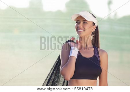 Professional Tennis Athlete With Tennis Mesh