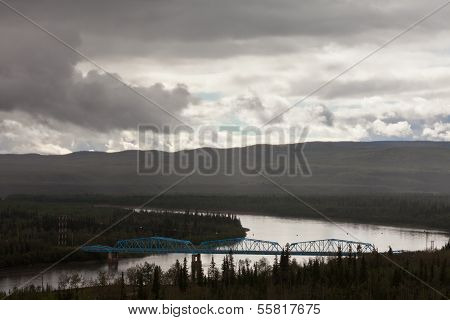 Pelly Crossing River Bridge Yukon Territory Canada